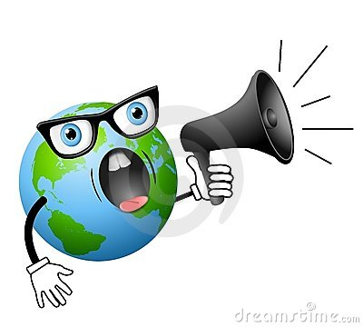 Earth with Megaphone