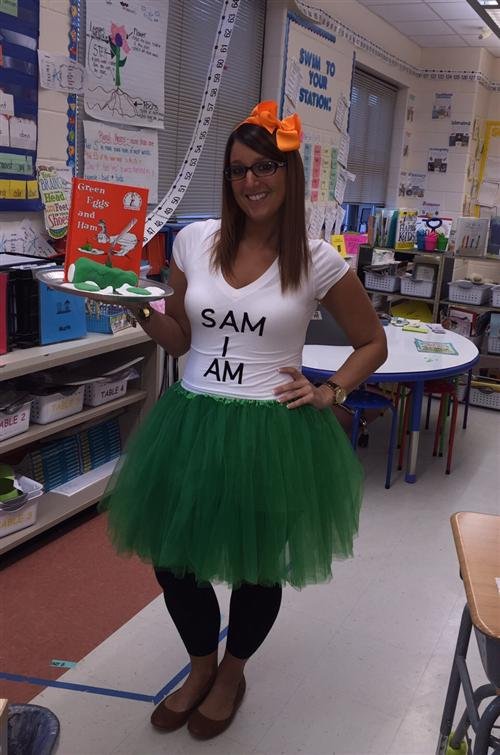 Ms. Marra on Dr. Seuss Week
