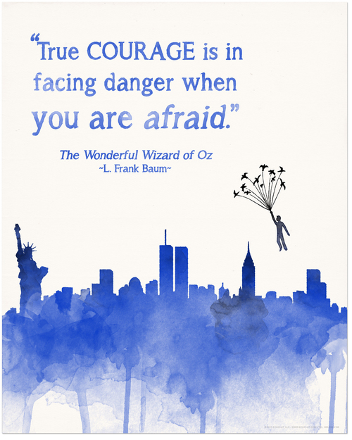 true courage is in facing danger when you are afraid.  ~L. Frank Baum